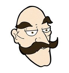comic cartoon old man face vector image