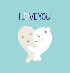 cute monsters in love vector image