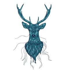 Deer Head2 vector image