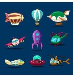 Different kind planes vector
