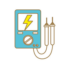 energy logger to meter electricity in the planet vector image