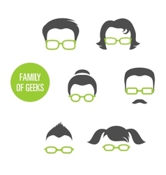 Family Of Geeks vector image