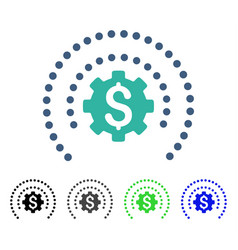 Financial sphere shield options flat icon vector