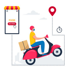 food online delivery package service 03 vector image