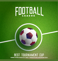 football on green grass background vector image