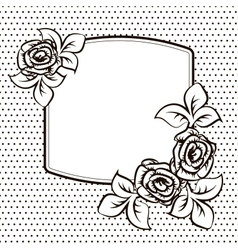 Frame temlate for a card vector image vector image