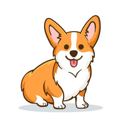 Funny orange welsh corgi vector
