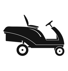 Grass cut truck icon simple style vector