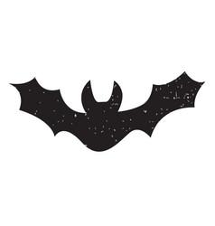 Halloween silhouettes bat vector