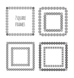 hand drawn doodle frames decorative elements vector image vector image