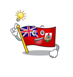 Have an idea flag bermuda cartoon on pole vector