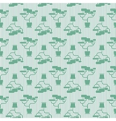 Houseplant seamless pattern vector image
