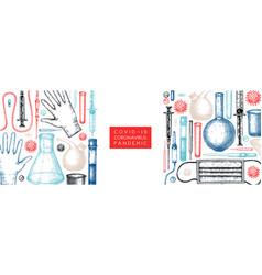 Laboratory equipment medicinal tools realistic vector