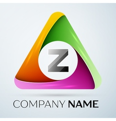 Letter z logo symbol in the colorful triangle vector