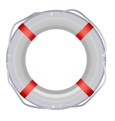 Life Buoy Isolated On White Background vector image
