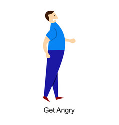 man gets angry vector image