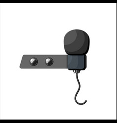 Miniature microphone buttonhole a small vector