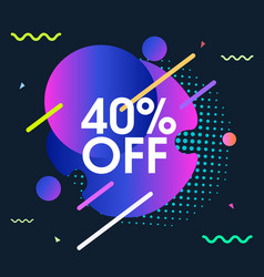Modern background with offer sale vector