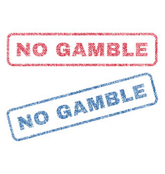 No gamble textile stamps vector