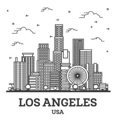 Outline los angeles california usa city skyline vector