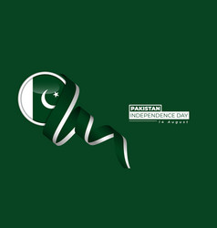 Pakistan independence day with circle vector