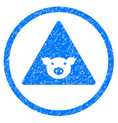 Pig error rounded grainy icon vector