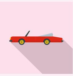 rap american car icon flat style vector image