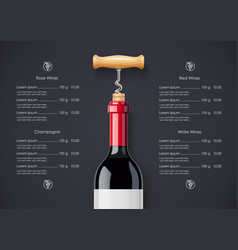 Red wine bottle cork vector