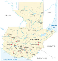 republic guatemala road map vector image