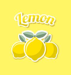 retro lemon vector image
