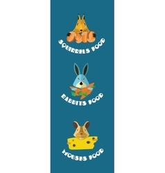 Rodents animals icons format vector