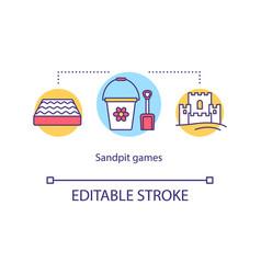 Sandpit games concept icon vector
