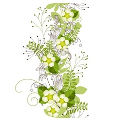 seamless vertical floral pastel pattern vector image