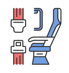 Seat belt color icon vector