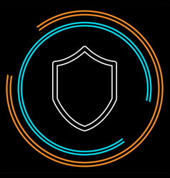security shield - protection and safety vector image