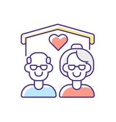 Senior housing rgb color icon vector