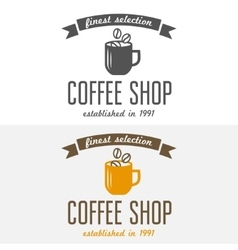 Set of vintage labels emblems and logo templates vector image