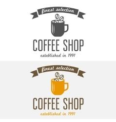 set vintage labels emblems and logo templates vector image