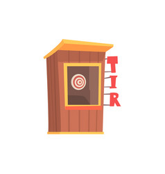 Shooting gallery booth tir cartoon vector
