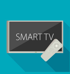 smart tv concept - in flat style with apps and vector image