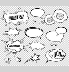 sound effect set design for comic book comic book vector image