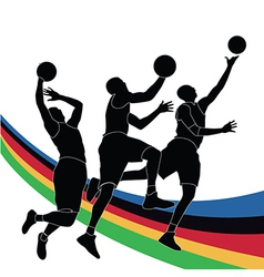 Sports players vector