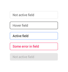 Text input set states fields vector