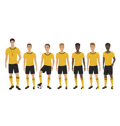 The young football players vector