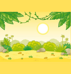 tropical summer background with scorching sun vector image