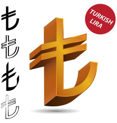 Turkish liras vector