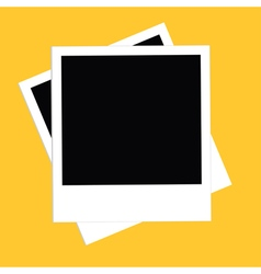 Two instant photo set Flat design style Yellow vector image