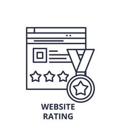 webiste rating line icon concept webiste rating vector image