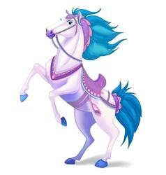 White horse on white background vector