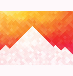 white orange squares mosaic background with vector image